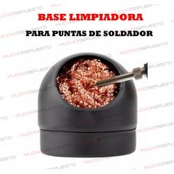 BASE LIMPIADORA PARA PUNTAS DE SOLDADOR