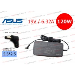 CARGADOR ORIGINAL ASUS 19V 6.32A 120W 5.5*2.5 SLIM (MONITOR / ALL IN ONE)