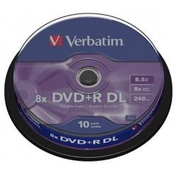 TARRINA 10 DVD+R DL...
