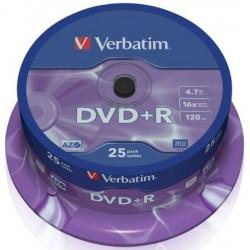 TARRINA 25 DVD+R VERBATIM 16X 4,7GB (LPI INCLUIDO)