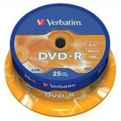 TARRINA 25 DVD-R VERBATIM 16X 4,7GB (LPI INCLUIDO)