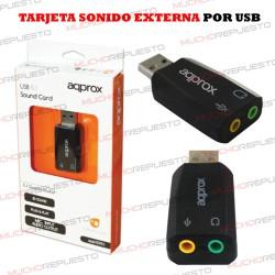 TARJETA DE SONIDO EXTERNA 5.1 USB approx! (PARA PORTATILES, PS3, PS4)