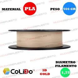 BOBINA 500GR FILAMENTO PLA COLIDO 3D-GOLD MADERA 1.75mm