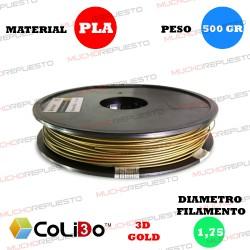 BOBINA 500GR FILAMENTO PLA COLIDO 3D-GOLD BRONCE 1.75mm