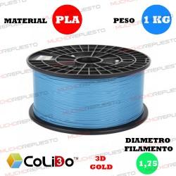 BOBINA 1KG FILAMENTO PLA COLIDO 3D-GOLD AZUL 1.75mm