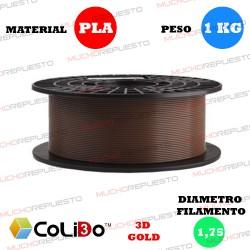 BOBINA 1KG FILAMENTO PLA COLIDO 3D-GOLD MARRON 1.75mm
