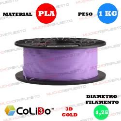BOBINA 1KG FILAMENTO PLA COLIDO 3D-GOLD PURPURA 1.75mm