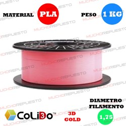 BOBINA 1KG FILAMENTO PLA COLIDO 3D-GOLD ROSA 1.75mm