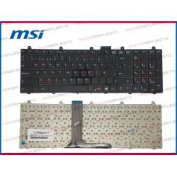 TECLADO MSI GE60 /GE60 2PE /GE60 2PL /GT60 /GT60 0NC /GT60 2PE (INGLES)