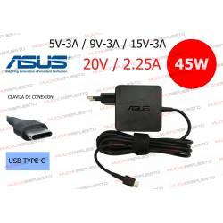 CARGADOR ORIGINAL ASUS 20V 2.25A 45W USB Type-C