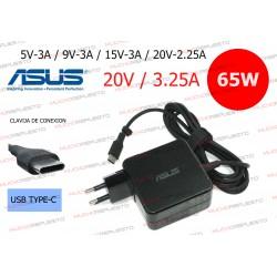 CARGADOR ORIGINAL ASUS 20V 3.25A 65W USB Type-C