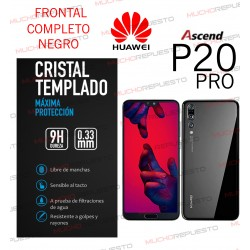 PROTECTOR CRISTAL TEMPLADO HUAWEI P20 PRO (FULL COVER NEGRO)