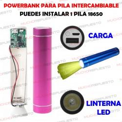 TUBO DE POWERBANK CON USB...