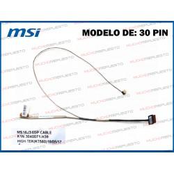 CABLE LCD MSI MS-16J3 /MS-16JD /GL62 6QD 6QF 7RD /GL62M 7RD /PL62 7RC