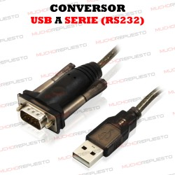 CABLE CONVERSOR USB A SERIE RS232 EWENT