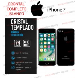 PROTECTOR CRISTAL TEMPLADO IPHONE 7 (FULL COVER BLANCO)