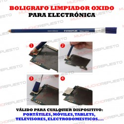 BOLIGRAFO LIMPIEZA OXIDO PLACAS / COMPONENTES ELECTRONICOS