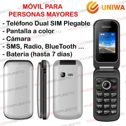 MOVIL SENIOR / PERSONAS MAYORES UNIWA X18 Dual SIM Plegable