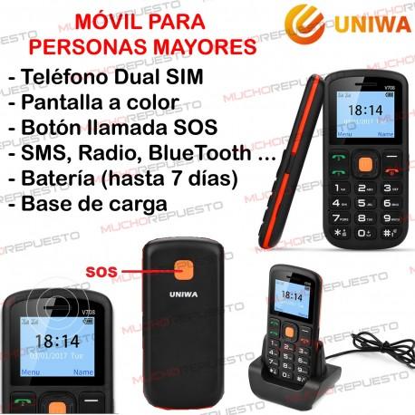 MOVILES PERSONAS MAYORES UNIWA V708 Dual SIM