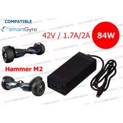CARGADOR COMPATIBLE PATINETE SMARTGYRO HAMMER M2 42V 2A 84W 3PIN