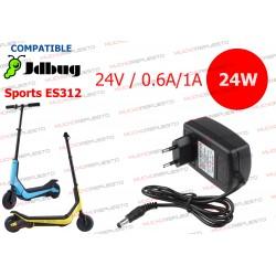 CARGADOR COMPATIBLE PATINETE JDBug Sports ES312 24V 0.6A 14.4V / 24V 1A 24W
