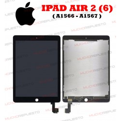 PANTALLA COMPLETA TABLET IPAD AIR2 (A1566 , A1567) NEGRA