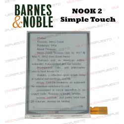 PANTALLA LCD EBOOK / LIBRO ELECTRICO Barnes & Noble NOOK 2 SIMPLE TOUCH