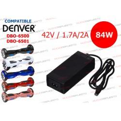 CARGADOR COMPATIBLE PATINETE DENVER DBO-6500 / DBO-6501 42V 2A 84W 3PIN