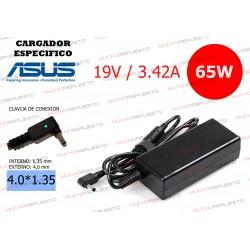 CARGADOR ASUS ESPECIFICO 19V 3.42A 65W 4.0*1.35