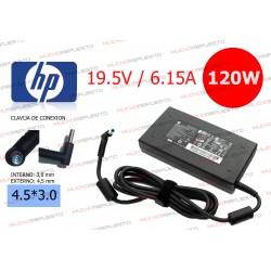 CARGADOR ORGINAL HP 19.5V 6.15A 120W 4.5*3.0 CENTRAL PIN AZUL
