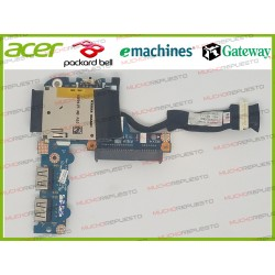 PLACA LS-5143P BOTON POWER + 2 USB + SLOT SD + CONECTOR HDD ACER D250 / KAV60