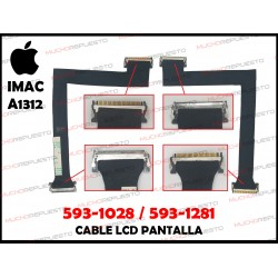 "CABLE LCD APPLE iMAC 27"" A1312 (AÑOS 2009 - 2010) 593-1028 / 593-1281 (Mod.1)"