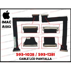 "CABLE LCD APPLE iMAC 27"" A1312 (AÑOS 2009 - 2010) 593-1028 / 593-1281 (Mod.2)"