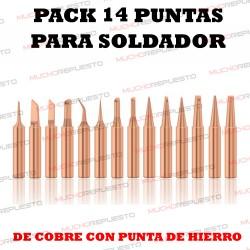PACK 14 PUNTAS COBRE...