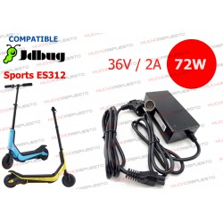 CARGADOR COMPATIBLE PATINETE JDBug Sports ES312 36V 2A 72W 5PIN