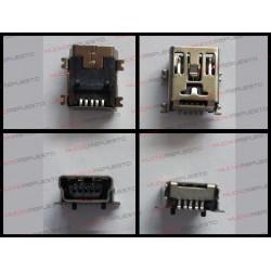 CONECTOR USB Mini B Hembra SMD 5pin (MP3/MP4/TABL)