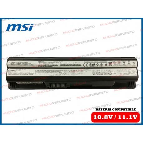 BATERIA MSI 10.8V-11.1V CR41/CR61/CR70/CX41/CX61/CX70/GE60/GE70/GE620/GP60/GP70