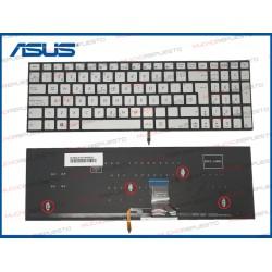 TECLADO ASUS ZenBook Pro UX501 /UX501J /UX501JW /UX501VW PLATA ILUMINADO