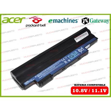 BATERIA ACER 10.8V-11.1V Aspire One AO722/D255/D257/D260/D270/ZE7 NEGRA