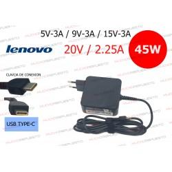 CARGADOR ORIGINAL LENOVO 20V 2.25A 45W USB Type-C