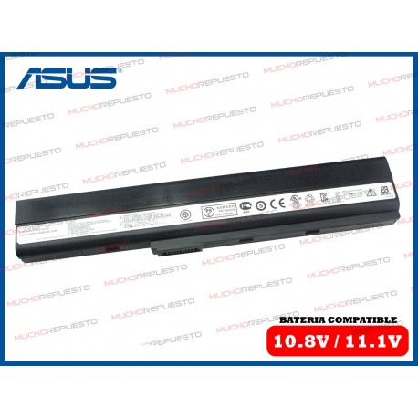 BATERIA ASUS 10.8V / 11.1V A42/A52/K42/K52/K62/N82/P42/P52/PRO5I/X42/X52