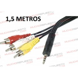 CABLE AUDIO+VIDEO JACK 3.5...