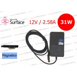 CARGADOR ORIGINAL MICROSOFT SURFACE PRO 3 / PRO 4 12V 2.58A 31W