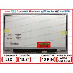 "PANTALLA 13.3"" LED (1366x768) SLIM CONECTOR BAJO DERECHA 40PIN (301MM)"