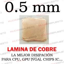 LAMINA DE COBRE 0.5mm PARA...