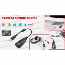 TARJETA SONIDO POR USB 7.1...