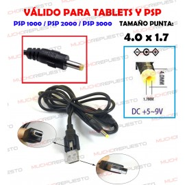 CABLE CARGA TABLETS Y SONY...
