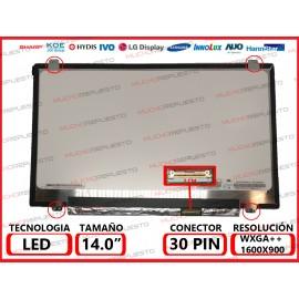 """PANTALLA 14"""" LED (1600x900)..."""