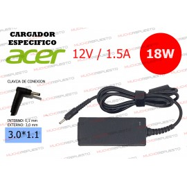 CARGADOR ESPECIFICO TABLET...