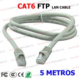 CABLE RED FTP CAT6 RJ45 5...